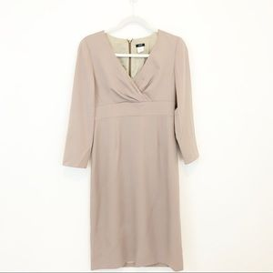 J. Crew Midi Length 100% Wool Dress Long Sleeve